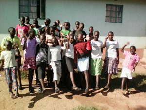 Some of our children showing their new sandals